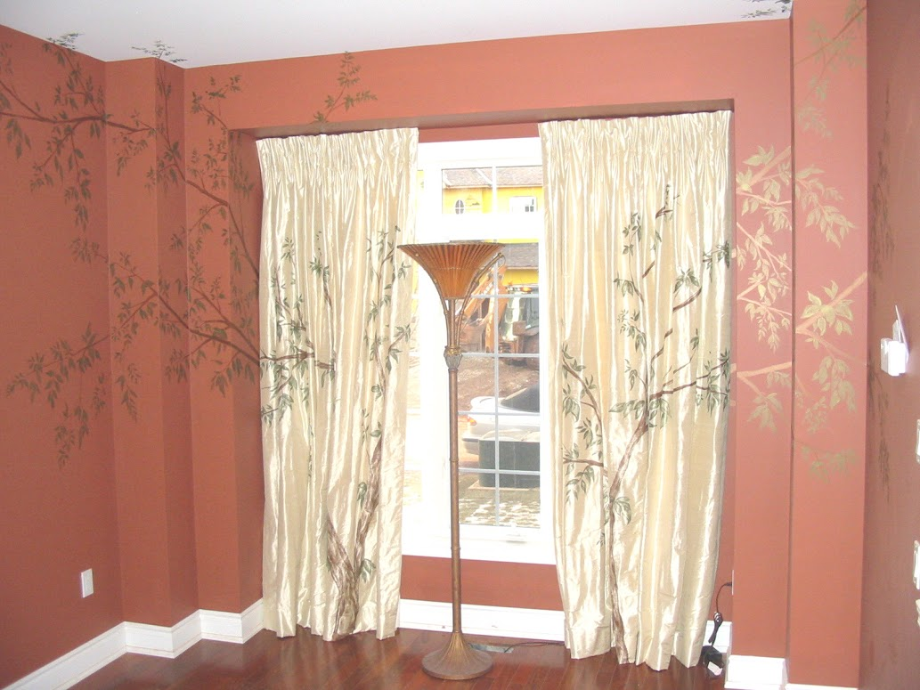 Living-Room-Painted-curtains-and-wall-2