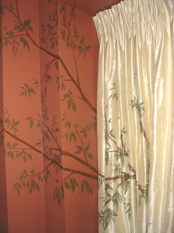 Living-Room-Painted-curtains-and-wall